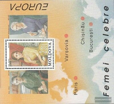 Moldawien block9 mint never hinged mnh 1996 Women