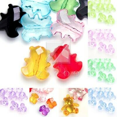 Acrylic Transparent Animal Spacer Beads DIY Jewellery Pendant Necklace Bracelet