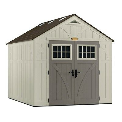 Suncast Tremont 8ft x 10ft Resin Walk-In Storage Shed (BMS8100)