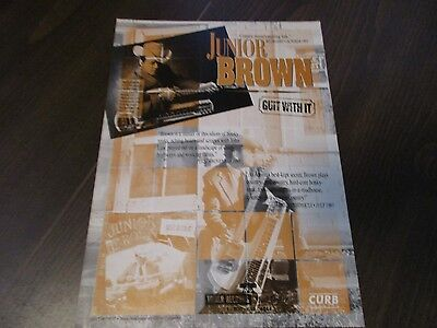 Junior Brown - Guit With It  1994 Magazine Print Ad