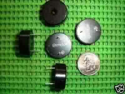 LOT OF 5 PIEZO ELECTRIC ELECTRONIC TONE BUZZER ALARM 1.5 THRU 12 volt ALARMS