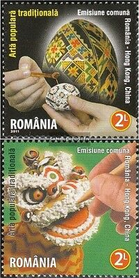 Romania 6572-6573 (complete.issue.) unmounted mint / never hinged 2011 Crafts