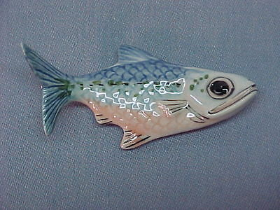 Vintage Miniature Porcelain LYING FISH Figurine