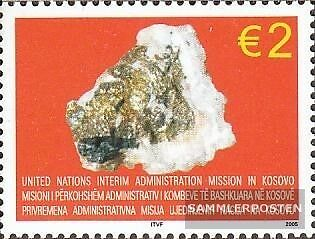 kosovo (UN-Administration) 42 mint never hinged mnh 2005 Minerals