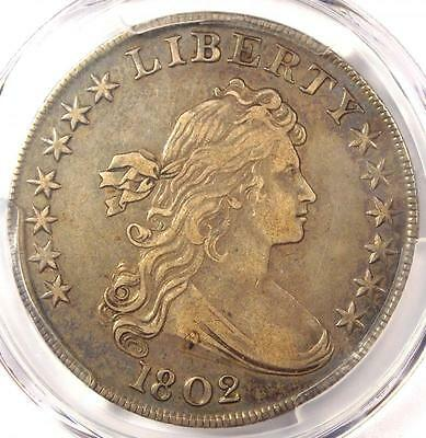 1802 Draped Bust Silver Dollar $1 Coin - Certified PCGS XF Detail (EF) - Rare!