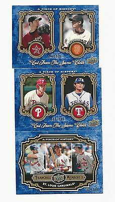 UD A Piece Of History Baseball 3 cd lot, A.Pujols,R.Oswalt,T.Lincecum,C.Utley
