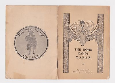 1906 Atlantic City N.j. American Cereal Company Home Candy Maker Booklet