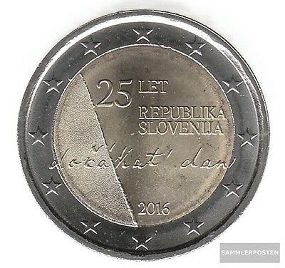slovenia 2016 Stgl./unzirkuliert Reprint: 1 million. 2016 2 Euro 25 years Indepe