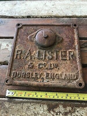 R.A Lister Stationary Engine Cover Dursley England Antique Old Vintage