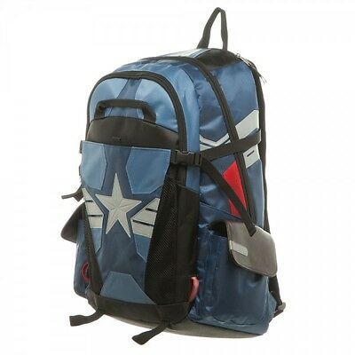 Authentic AVENGERS CAPTAIN AMERICA Icon Logo Suit Up Laptop Backpack NEW