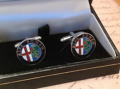 Alfa Cufflinks Silver Plated Cuff Links Mito Giuletta