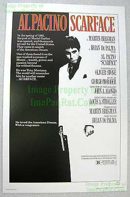 80s Vintage ☆ SCARFACE ☆ Al Pacino ☆ Michelle Pfeiffer ☆ Lobby Card Poster Litho