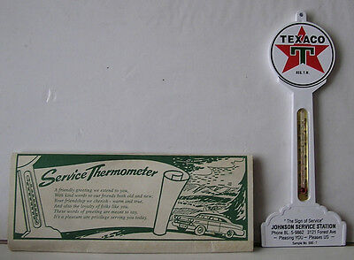 Original 1950 TEXACO Service Station Sample Lollypop Thermometer Mint in Package