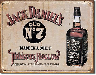 """""""Jack Daniel's"""" Old No. 7, Tennessee Hollow, Tin Sign, Bar, Home Decor, Man Cave"""