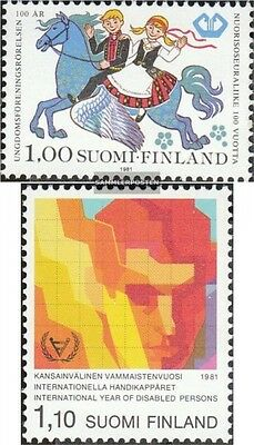 Finland 884,888 (complete.issue.) unmounted mint / never hinged 1981 Youth, Disa