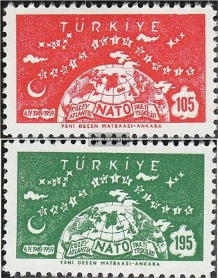 Turkey 1621-1622 (complete.issue.) unmounted mint / never hinged 1959 10 years N
