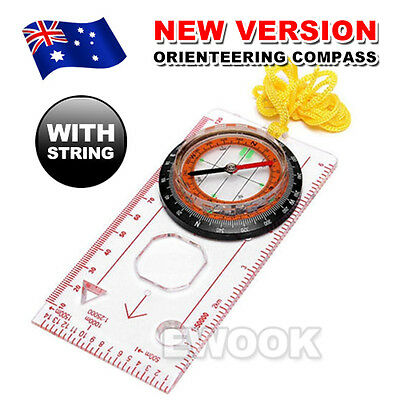 Orienteering Baseplate Compass Lensatic Maps Tactical Army Gear Outdoor Hiking