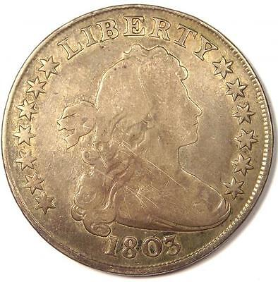 1803 Draped Bust Silver Dollar $1 - Very Good Details (VG) - Rare Type Coin!