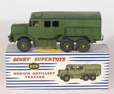 Military Dinky 689 Medium Artillery Tractor. Green. MINT/Boxed/1960