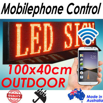 105x40cm, Phone/Wifi Control Scrolling Programmable LED Menu Board/Sign Outdoor
