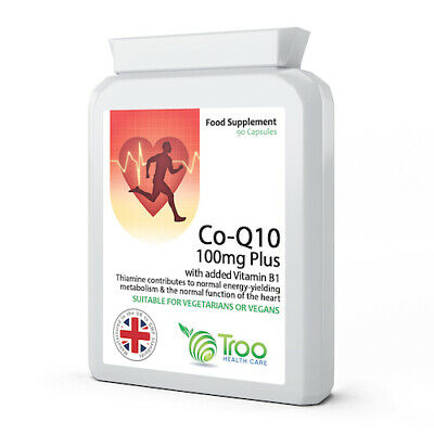 Co Enzyme Q10 CoQ10 100mg 90 Capsules UK Manufactured GMP Guaranteed Quality
