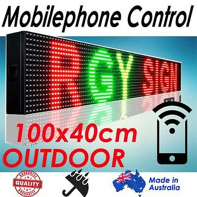 105x40cm, RGB Phone/Wifi Control Scrolling Programmable LED Board/Sign Outdoor