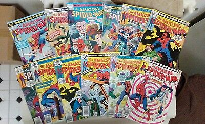 The Amazing Spider-Man comic book lot(Marvel,1970s)AMAZING ACTION!