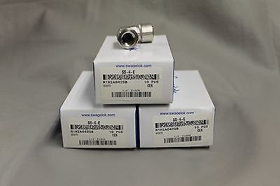 """Lot Of 30 Stainless Steel Elbows 1/4""""fnpt X 1/4""""fnpt New In Boxes Ss-4-E Swaglok"""