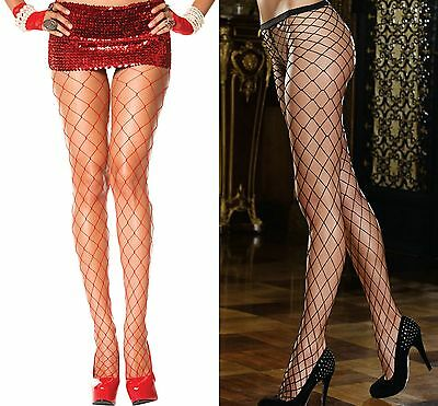 Ladies Fish Net Thigh High pantyhose Stockings Tights Lingerie Black Red Diamond