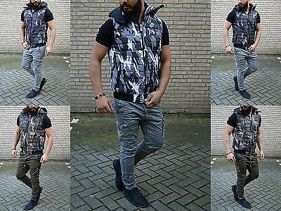 Camouflage Young Fashion Born 2 Rebell Rocker Biker Military Army Armee Weste