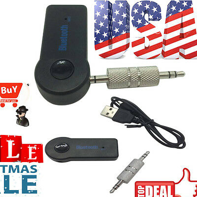 Bluetooth V3.0 Wireless Stereo Audio Music Receiver 3.5mm Handsfree Car AUX BB