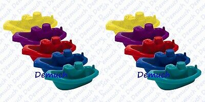 New 5 Pack BABY BATH BOATS Toy Floating Fun Water Tub Time Toddler Children UK ✔