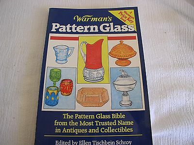 1993 Warman's Pattern Glass Antiques Bible Identification Price Key Guide Book