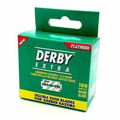 100 Derby Extra Double Edge Safety Razor Blades In New Packaging