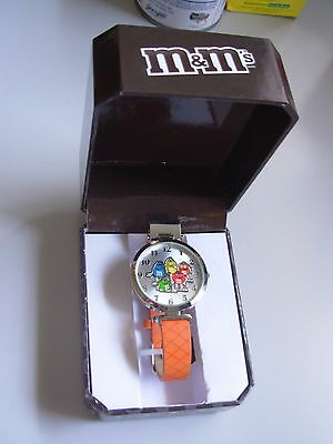 M&M's Candy Advertising 5 Character Watch~NEW In Box w/ Paperwork