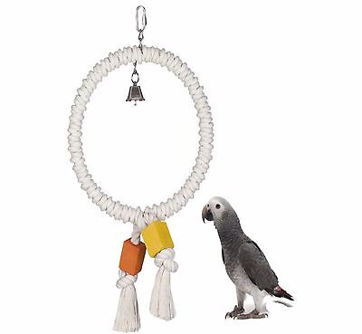 Nobby 27 Cm Large Cotton Ring Swing Parrot Cage Toy African Grey Amazon 31672