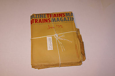 TRAINS Magazine 1972 Complete Year Lot of 12 Issues
