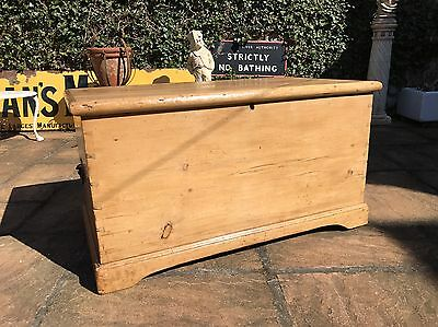 Victorian Pine Trunk - Pine Blanket Box - Pine Chest - Furniture - Antique - Old