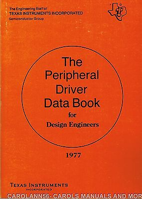 TEXAS INSTRUMENTS Data Book 1977 Peripheral Driver