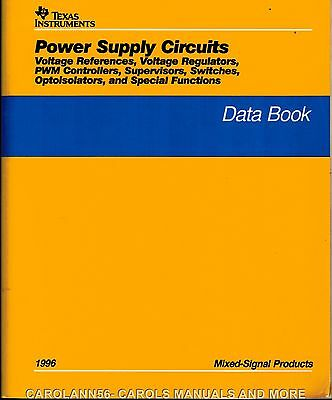 TEXAS INSTRUMENTS Data Book 1996 Power Supply Circuits