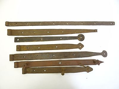 Barn Door Straps Brackets Architectural Hardware Antique Lot Old Wrought Iron