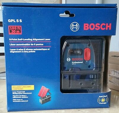 Bosch GPL 5 S 5-Point Self-Leveling Plumb and Square Alignment Laser