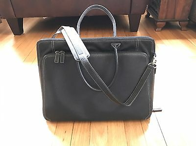 Levenger Majorca Black Leather Briefbag AL6030 Black
