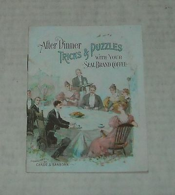 1896 Chase & Sanborn Coffee After Dinner Magic Tricks & Puzzles Premium Booklet