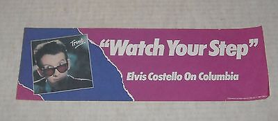 "1981 CBS RECORDS ELVIS COSTELLO TRUST ALBUM 4"" by 12"" COLOR ADVERTISING FLYER"