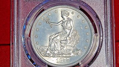 1877-S $1 PCGS MS63 Trade Dollar (Very fair price for an all white specimen!!)