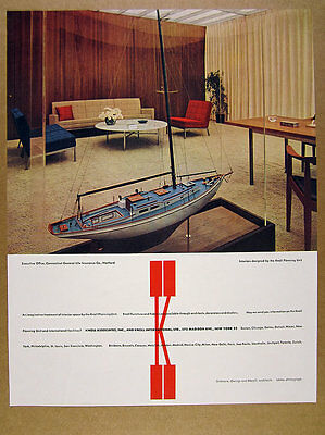 1960 Knoll Planning Unit furniture chair couch fabrics photo vintage print Ad