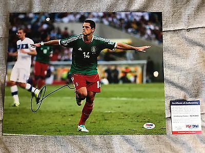 JAVIER HERNANDEZ CHICHARITO Signed Autographed 11x14 Photo PSA/DNA Mexico
