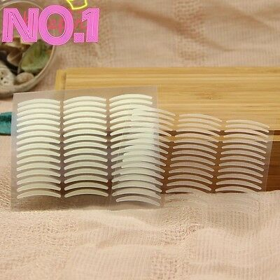 220 Pcs Invisible Thin/wide double Eyelid Clear Adhesive Sticker Tape Big eye UK
