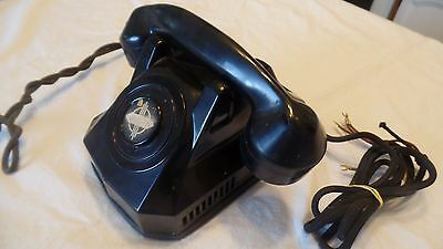 Vtg Antique Monophone Bakelite Automatic Electric Telephone Chicago 1940-50s